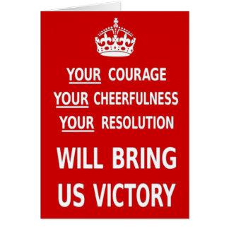 Su valor nos traerá la victoria. El mejor precio Tarjeta De Felicitación