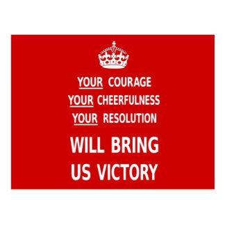 Su valor nos traerá la victoria. El mejor precio Tarjeta Postal