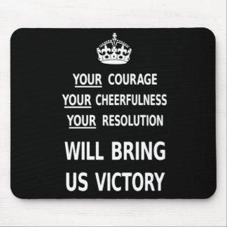 Su valor nos traerá la victoria el precio bajo bla alfombrillas de ratón