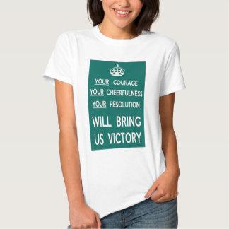 Su valor nos traerá la victoria playeras
