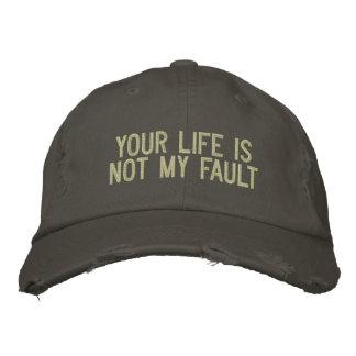 Su vida no es mi gorra bordado falta gorras bordadas