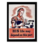 Su vida puede depender de esta parte postal