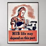 Su vida puede depender de esta parte posters