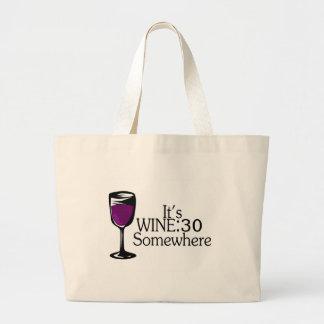 Su vino 30 en alguna parte bolsas