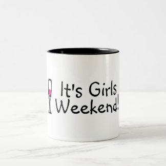 Su vino del fin de semana de los chicas tazas