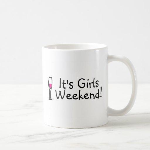 Su vino del fin de semana de los chicas taza clásica