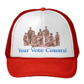 Su voto cuenta - guerra civil - productos múltiple gorros bordados