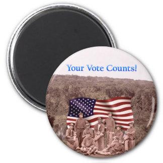 Su voto cuenta - guerra civil - productos múltiple imán redondo 5 cm