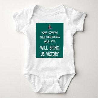 Su voto nos traerá la victoria body para bebé