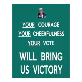 """Su voto nos traerá la victoria folleto 8.5"""" x 11"""""""