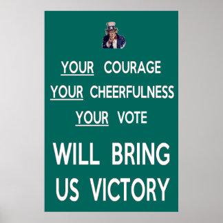 Su voto nos traerá la victoria posters