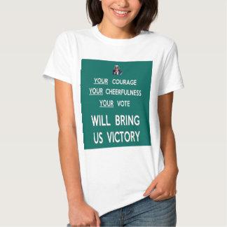Su voto nos traerá la victoria remera