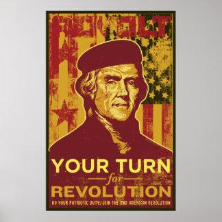Su vuelta para el poster de la revolución