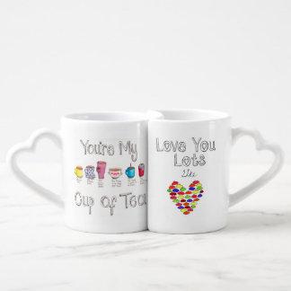 Su y el suyo tazas de la cita tazas amorosas