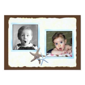 Su y su invitación del boda de la foto del bebé invitación 12,7 x 17,8 cm