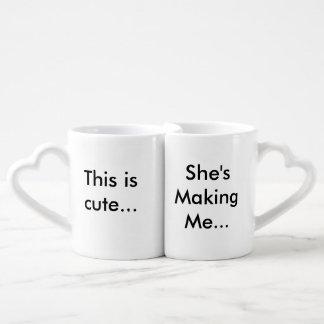 Su y su sistema de la taza tazas para parejas