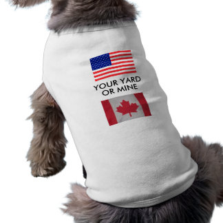 SU YARDA O LA MINA los E E U U señala la camiset Camisetas De Perro