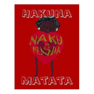 Suajili de Hakuna Matata te amo Nakupenda Sana Tarjetas Postales