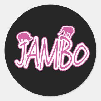 Suajili de Jambo hola Pegatinas Redondas