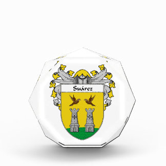 Suarez Coat of Arms Family Crest Acrylic Award