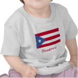 Suárez Puerto Rican Flag Tee Shirts