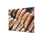 Suasages on Barbeque Canvas Print