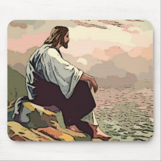 Suave manso de Jesús - y - Mousepad