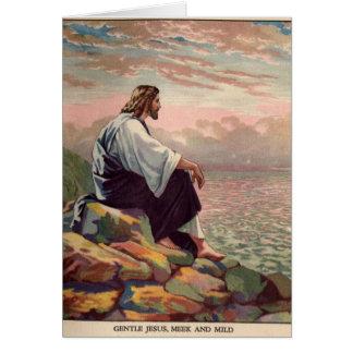 Suave manso de Jesús - y - Tarjeta De Felicitación