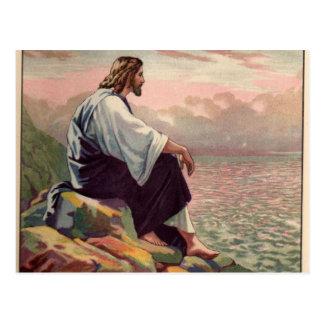 Suave manso de Jesús - y - Tarjeta Postal