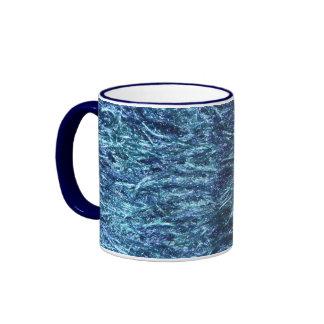 Suave y borroso azules taza de dos colores