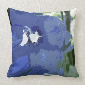 Suavemente azul uno almohadas