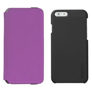 Suavemente púrpura funda billetera para iPhone 6 watson