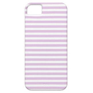 Suavemente púrpura y blanco raya la caja del iPhone 5 fundas