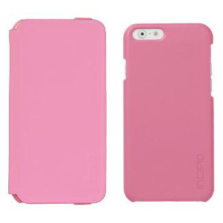 Suavemente rosa funda billetera para iPhone 6 watson