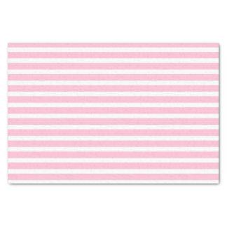 Suavemente rosado y blanco raya el papel seda papel de seda pequeño