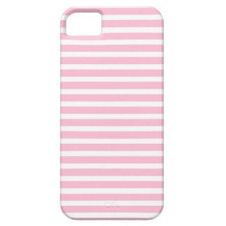 Suavemente rosado y blanco raya la caja del iPhone iPhone 5 Fundas