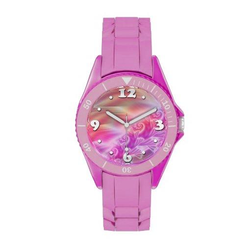 Suavemente satén relojes de pulsera