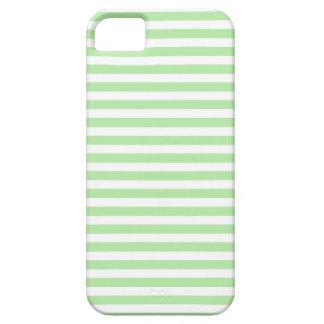 Suavemente verde y blanco raya la caja del iPhone iPhone 5 Carcasa