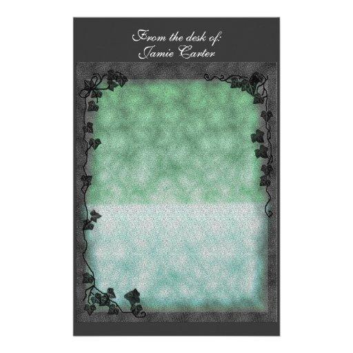 suavemente verde y frontera de la hiedra papelería de diseño