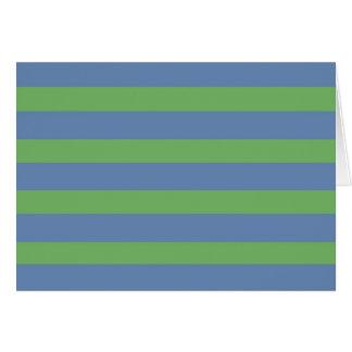 Suavemente verde y modelo rayado del bígaro tarjeta pequeña