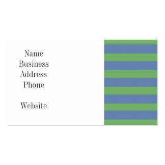 Suavemente verde y modelo rayado del bígaro tarjetas de visita