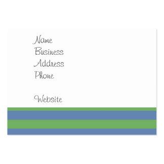 Suavemente verde y modelo rayado del bígaro tarjetas de visita grandes
