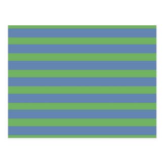 Suavemente verde y modelo rayado del bígaro tarjetas postales