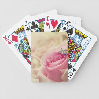 Suavidad angelical soñadora blanca floral femenina cartas de juego