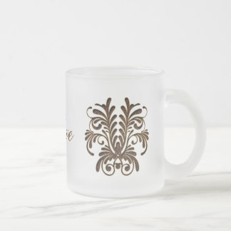 Suavidad del ramo 1 de la Cuero-Mirada Taza De Café
