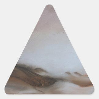 Suavidad del silencio III Pegatina Triangular