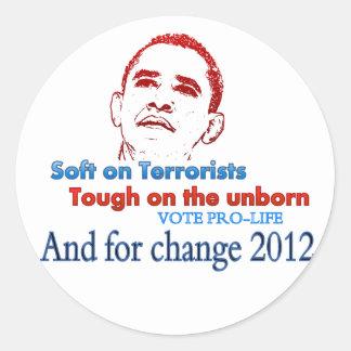 Suavidad en los terroristas duros en el nonato… etiquetas redondas