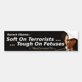 Suavidad en terroristas… pegatina para auto