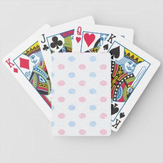 suavidad punteada, azul rosado barajas de cartas