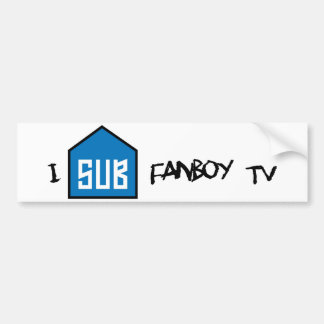 Sub a la pegatina para el parachoques del Fanboy Etiqueta De Parachoque